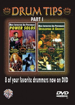 DRUM TIPS DEVELOPING A GROOVE/POWER SOLOS DVD