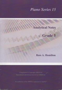 Ameb Analytical Notes Piano Series 15 Grade 5