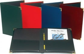 Band Folder 12X14 Red With Pencil Loop