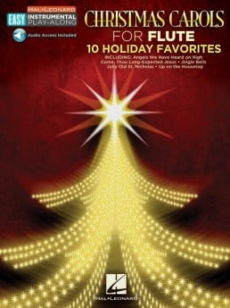 Christmas Carols For Flute Book with Online Audio
