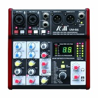 ICM UM-66 4-Channel Mixing Console USB Audio Interface