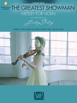 The Greatest Showman Medley For Violin Book with Online Audio