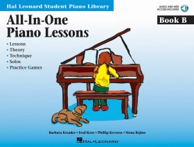 All-in-One Piano Lessons Book B - Book/CD Pack