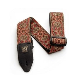STRAP JACQUARD IMPERIAL PAISLEY RED - LEATHER AND POLYPRO 41-72