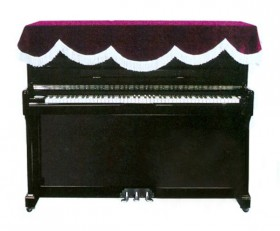 Paytons Piano Cover Suite Upright Top Burgundy