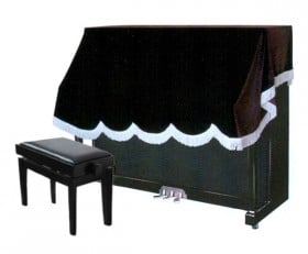 Half Cover for Upright Piano - Brown
