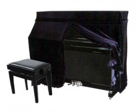 Full Fitted Cover for Upright Piano - Black UP4