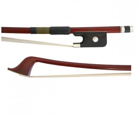 Double Bass Bow-FPS Brazilwood Half Mount-French-style 1/2