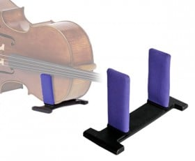celloGard Model One Security Stand - fitted with Purple sleeves