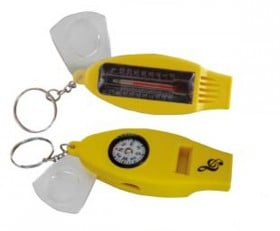 Whistle W/Compass/Therm/Magnif Clef
