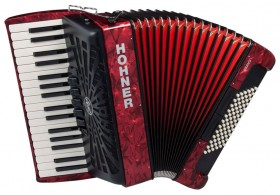 Hohner Bravo III 72 Bass Chromatic Accordion In Red Pearl