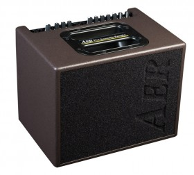 """AER """"Compact 60"""" Acoustic Instrument Amplifier in Chocolate Brown Spatter Finish (60 Watt)"""