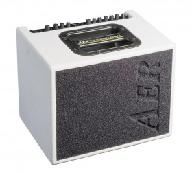 """AER """"Compact 60"""" Acoustic Instrument Amplifier in White Spatter Finish (60 Watt)"""