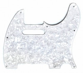 Gotoh 3-Ply TL-Style Electric Guitar Pickguard in White Pearl (Pk-1)