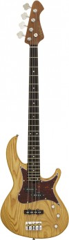 Aria 313MK2 Detroit Series 4-String Electric Bass Guitar in Open-Pore Natural Finish