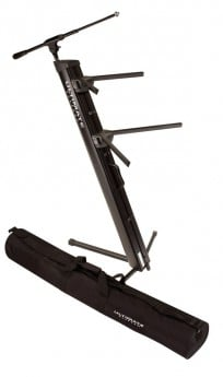 TWO TIER PRO COLUMN KEYBOARD STAND BLACK AX48PRO