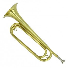 AXL Brass Bugle in Clear Lacquered Finish