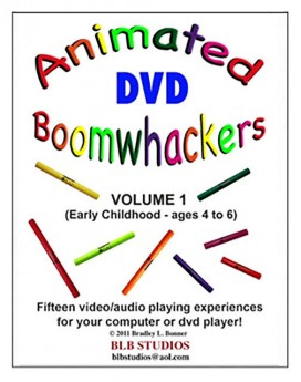 """Boomwhackers """"Animated Boomwhackers Volume 1"""" DVD Only"""