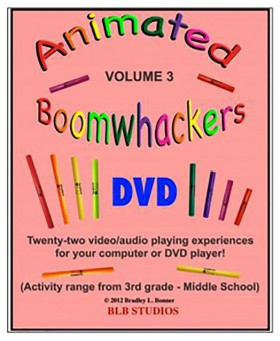 """Boomwhackers """"Animated Boomwhackers Volume 3"""" DVD Only"""