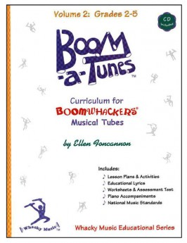 """Boomwhackers """"Boom-a-Tunes Volume 2"""" Curriculum Book/CD"""