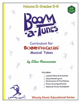 """Boomwhackers """"Boom-a-Tunes Volume 3"""" Curriculum Book/CD"""