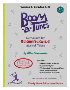 """Boomwhackers """"Boom-a-Tunes Volume 4"""" Curriculum Book/CD"""