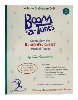 """Boomwhackers """"Boom-a-Tunes Volume 5"""" Curriculum Book/CD"""