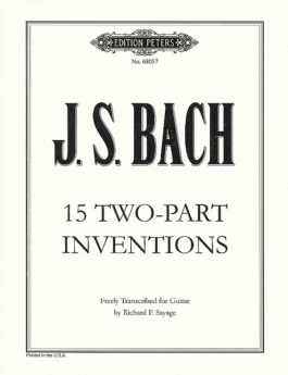 BACH - 15 TWO PART INVENTIONS FOR GUITAR