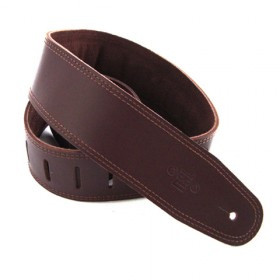 """Dsl Straps GES2S-17-2 2.5"""" Padded Suede Saddle Brown/Brown"""