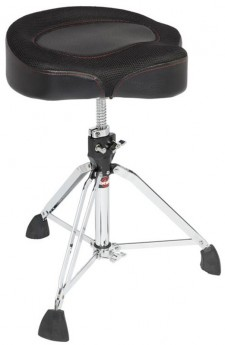 Gibraltar 9600 Series Drum Throne with Oversized Motostyle Seat with Thigh Cutouts
