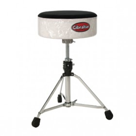 DRUM STOOL SOFTTOP WHITE PEARL
