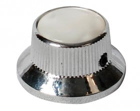 EAGLE Control Knob Bell Style Chrome White Pearloid To