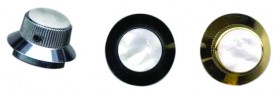 EAGLE Control Knob Bell Style Black White Pearloid Top