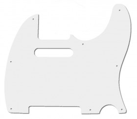 GT 3-Ply TL-Style Electric Guitar Pickguard in White (Pk-1)