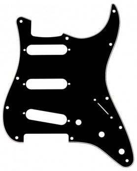 GT 3-Ply ST-Style 3SC Electric Guitar Pickguard in Black (Pk-1)