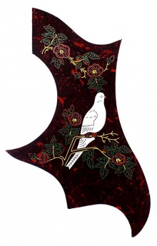 GT Acoustic Guitar Pickguard in Shell with Dove Design (Pk-1)