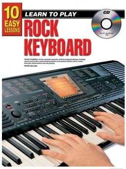 10 Easy Lessons Learn To Play Rock Keyboard Book/CD