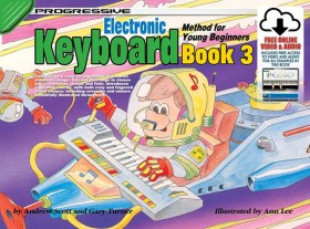 Progressive Keyboard Book 3 for Young Beginners Book/Online Video & Audio