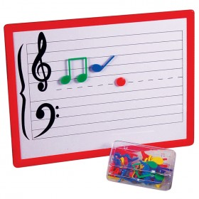 Maxtone Magnetic Music Teaching Board with Magnetic Music Symbols