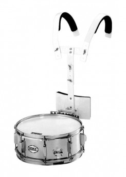 """Peace Metal Marching Snare Drum with Marching Carrier (14 x 5.5"""")"""