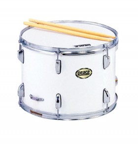 """Peace 12 Lug Marching Snare Drum in White (14 x 10"""")"""