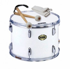 """Peace 12-Lug Marching Tenor Drum in White (14 x 10"""")"""