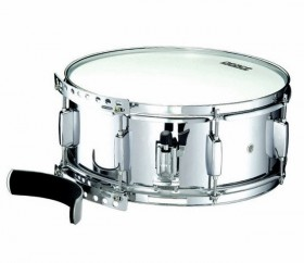 """Peace Metal Marching Snare Drum with Leg Rest (14 x 5.5"""")"""