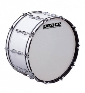 """Peace 20-Lug Marching Bass Drum in White (26 x 10"""")"""