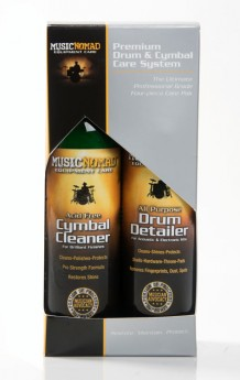 Music Nomad Premium Drum and Cymbal Care Kit 4-Pce