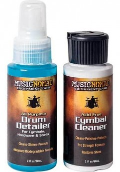 Music Nomad Mini Drum and Cymbal Care Kit 2-Pce