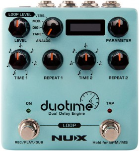 NU-X Verdugo Series Duotime Dual Delay Engine Effects Pedal