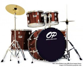 Opus Percussion 6-Piece Rock Drum Kit in Wine Red