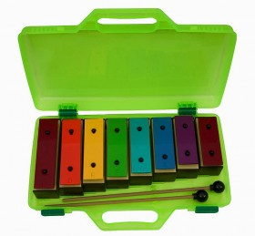 Opus Percussion 8-Note Resonator Bell Set in Plastic Case with Beaters
