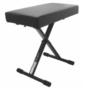 On Stage Oskt7800+ Deluxe X-Style Piano Bench Black Steel